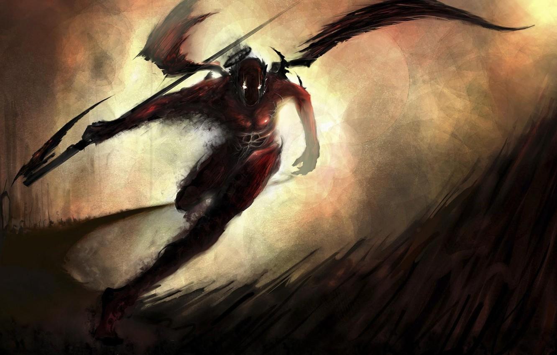 Обои Фантастика, падший ангел, крылья. Фантастика foto 10