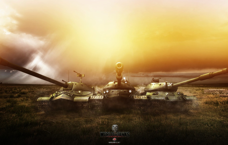 Фото обои Игры, ИС-7, World of Tanks, ИС-4, ИС-8, FuriousGFX