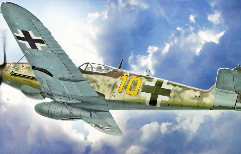 Обои Bf 109 k4, war, painting, german fighter, ww2, aviation. Авиация foto 7