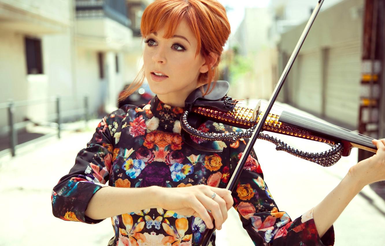 Фото обои скрипка, красавица, violin, Линдси Стирлинг, Lindsey Stirling