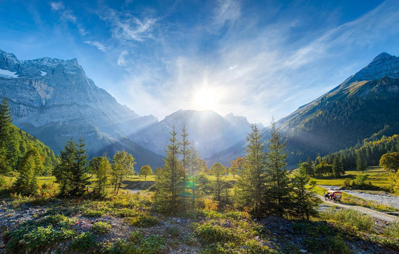 Обои альпы, Пейзаж. Минимализм foto 7