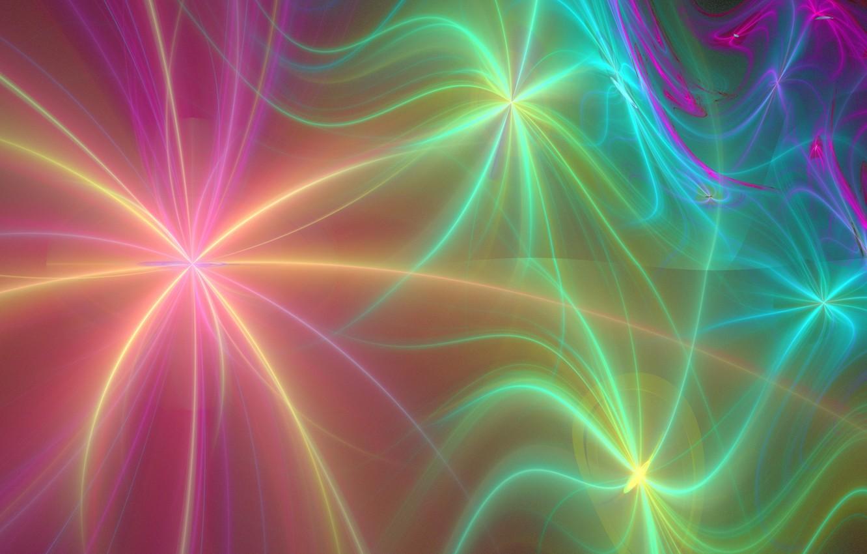 Обои краски, фрактал, лучи. Абстракции foto 19