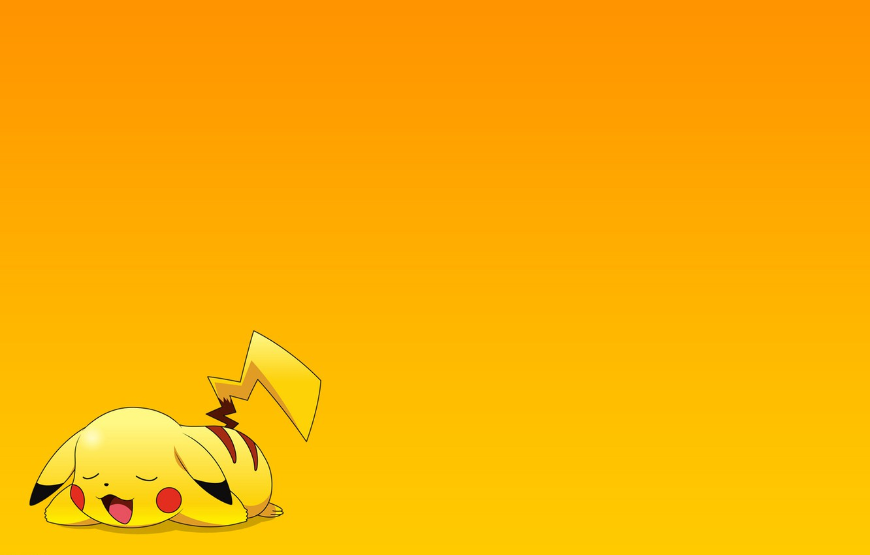 Фото обои отдых, обои, мультфильм, сон, аниме, пикачу, покемон, pokemon, pikachu