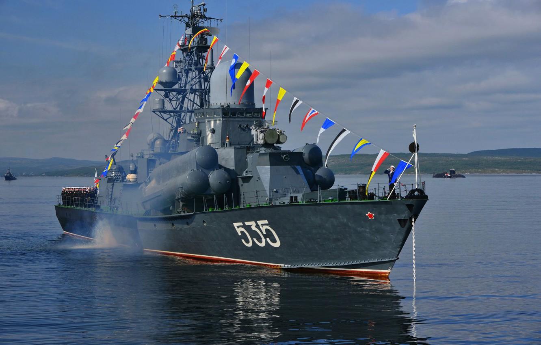 Фото обои ракетный, малый, Парад, Североморск, День ВМФ, корабдь