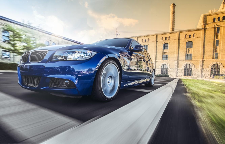 Обои синяя, 335i m, sport, blue, Bmw, 3 серия, e90. Автомобили foto 7
