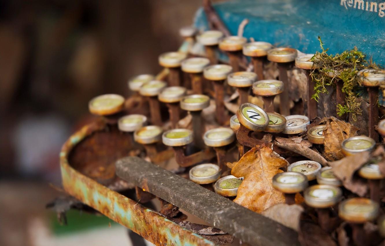Фото обои Decay, Remington, Typewriter