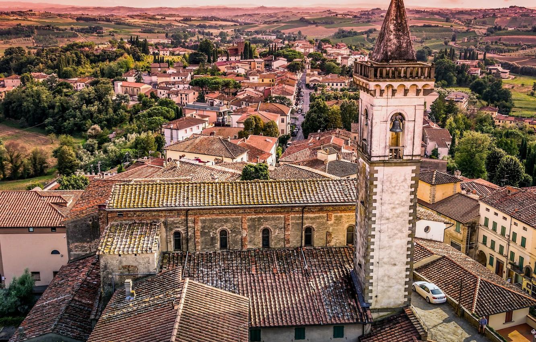 Обои тоскана, italy, крыши, Tuscany, сиена, здания. Города foto 17