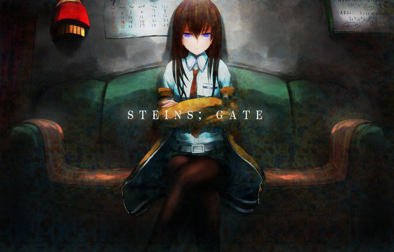 Фото обои девушка, аниме, арт, makise kurisu, steins;gate, sweeter 6