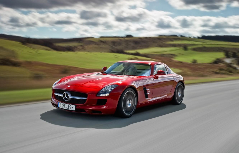 Фото обои Mercedes, спорткар, SLS