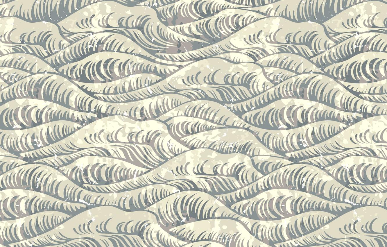 Фото обои море, волны, вектор, текстура