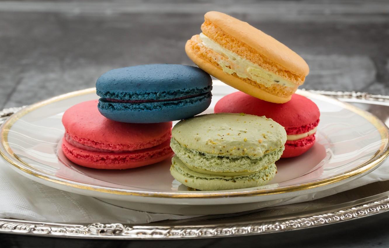 Фото обои разноцветный, пирожные, макаруны