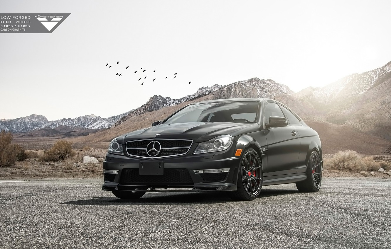 Фото обои Mercedes, Vorsteiner, AMG, Tuning, C63, Mercedes Tuning, Vorsteiner Mercedes-Benz C63 AMG