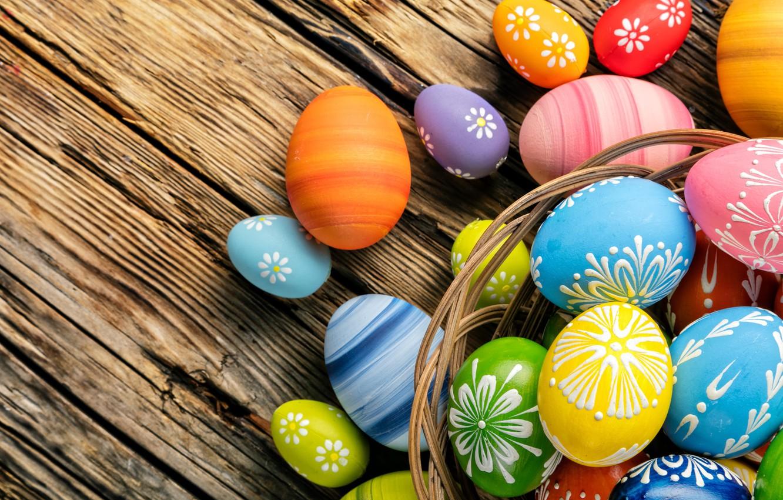 Фото обои яйца, весна, colorful, Пасха, happy, wood, spring, Easter, eggs, holiday