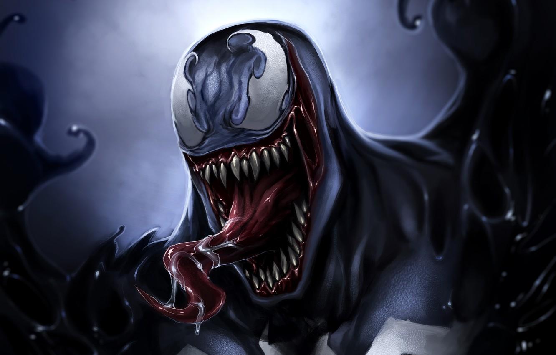 Фото обои язык, Venom, Eddie Brock, Symbiote