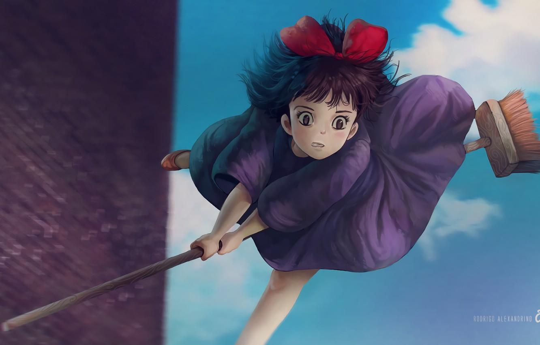 Фото обои Аниме, Kiki's Delivery Service, Studio Ghibli