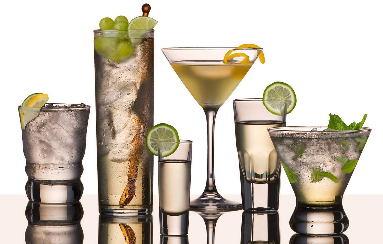 Фото обои бокал, фрукты, martini
