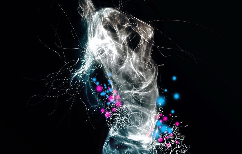 Фото обои энергия, девушка, танец, Узор