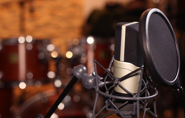 Обои микрофон, фотосессии. HI-Tech foto 12