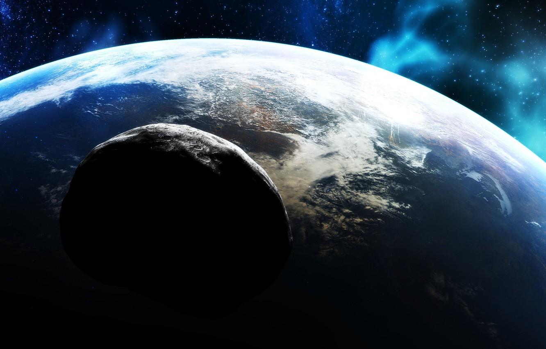 Фото обои звезды, поверхность, планета, атмосфера, астероид