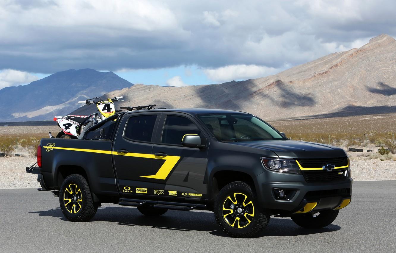 Фото обои фото, черный, тюнинг, Chevrolet, автомобиль, 2014, Colorado Performance