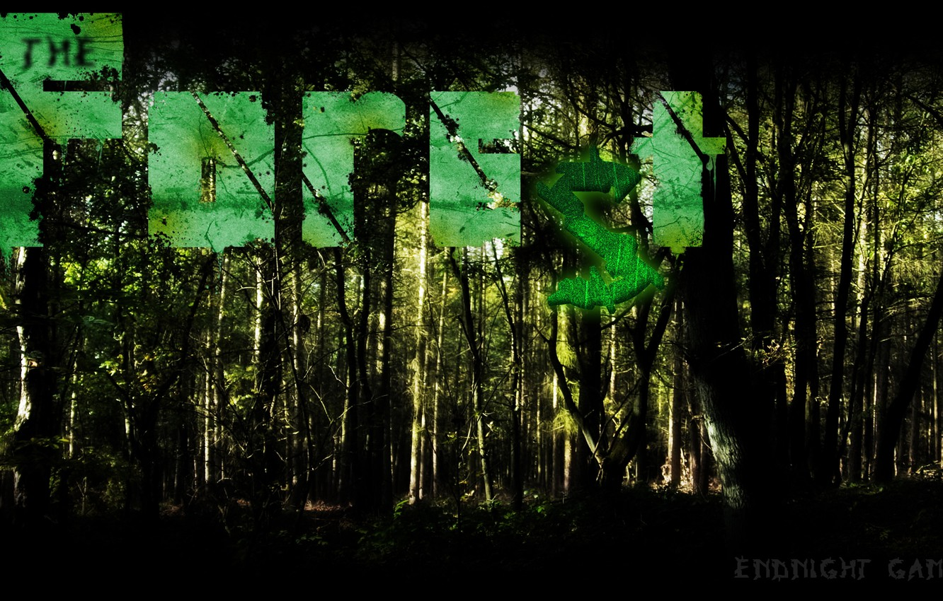 Фото обои лес, horror, forest, survival