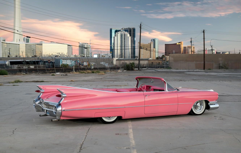 Фото обои ретро, кабриолет, 1959, Cadillac Convertible