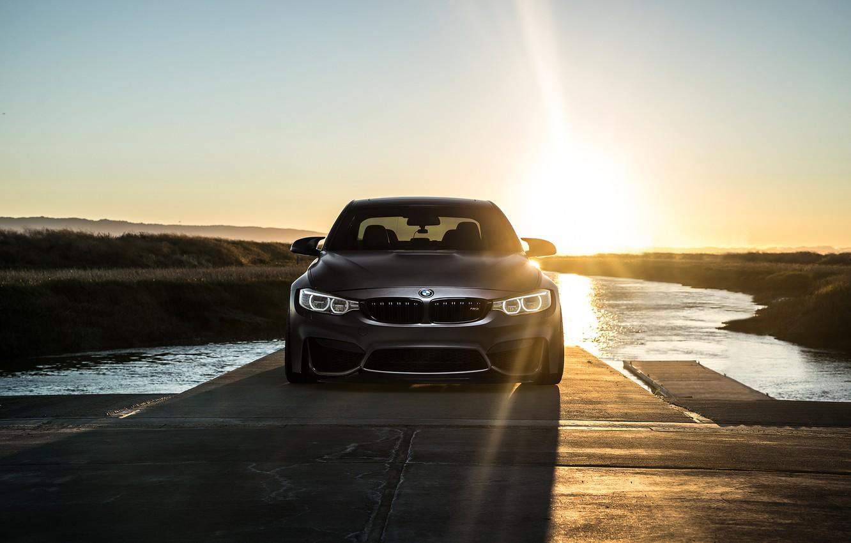 Фото обои BMW, Sky, Carbon, Front, Black, Sun, Water, Matte, F80, Mode