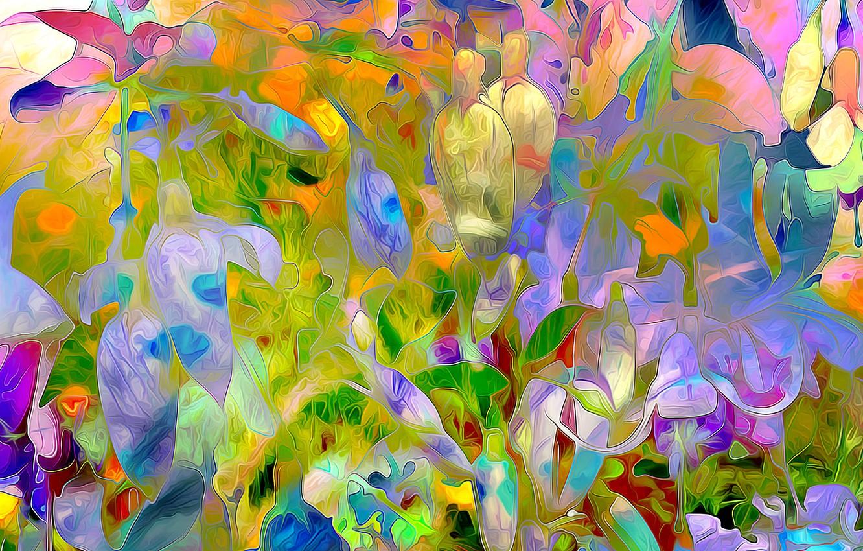 Обои луг, цветы. Абстракции foto 18