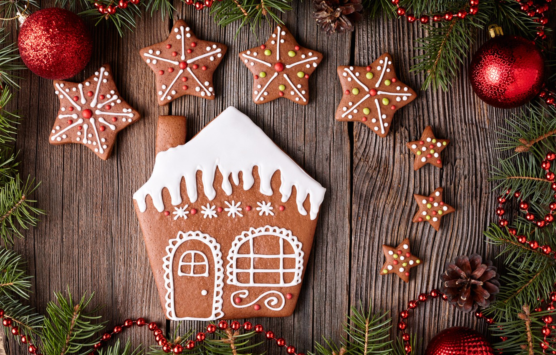 Обои decoration, рождество, xmas, cookies, Merry, christmas. Новый год foto 19