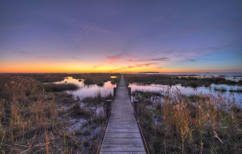 Фото обои пейзаж, Chesapeake, Bay Sunset