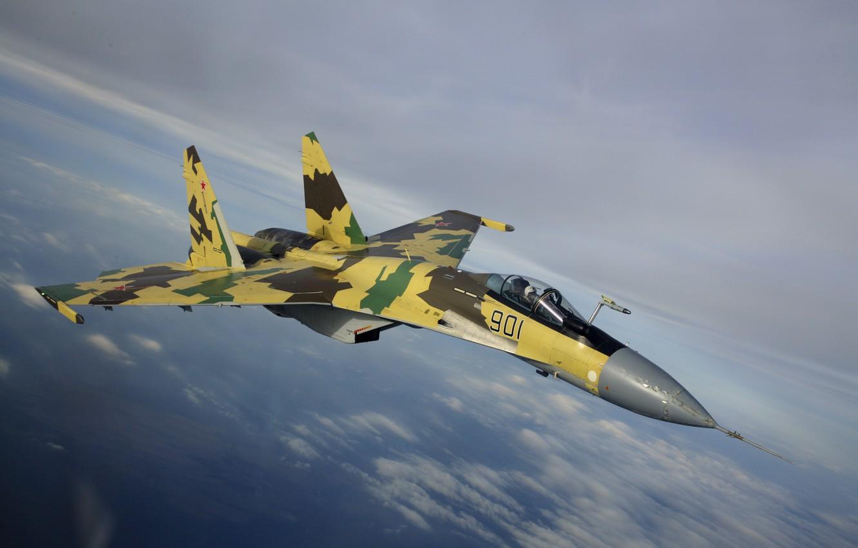 Обои Su-35S, Самолёт. Авиация foto 7