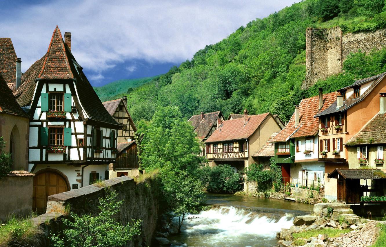Обои Vanoise, дома, альпы, деревня, france, вануаз. Города foto 17
