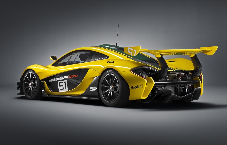 Фото обои McLaren, GTR, сзади, суперкар, макларен, 2015