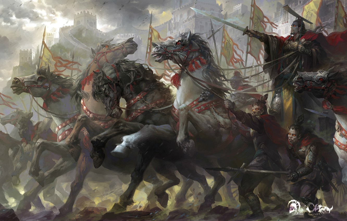 Фото обои soldiers, battle, horse, First Emperor of China