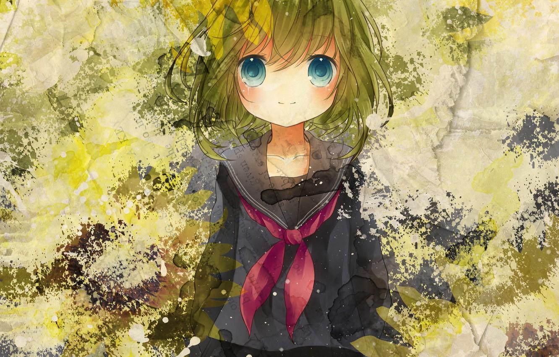 Фото обои девушка, краски, арт, Vocaloid, Вокалоид, Gumi, hinanosuke