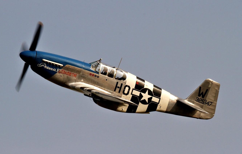 Обои дальний, одноместный, P-51c mustang, американский. Авиация foto 6