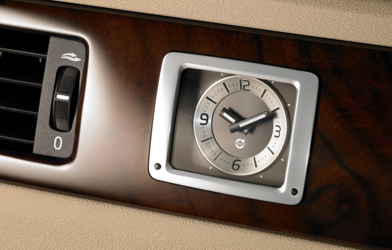 Фото обои машины, часы, volvo, S80