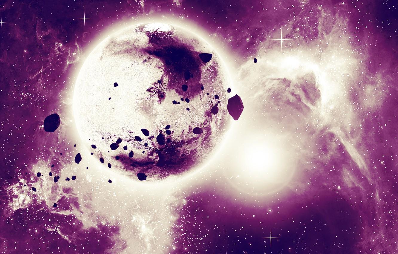 Фото обои космос, вселенная, планета, звёзды
