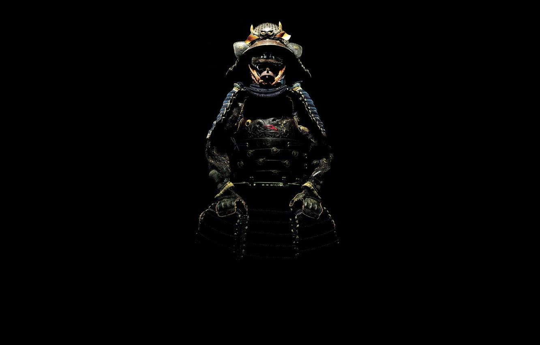 Фото обои тень, самурай, костюм