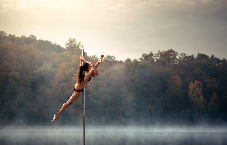 Фото обои танец, шест, акробатика, Chris Silya, не стриптиз