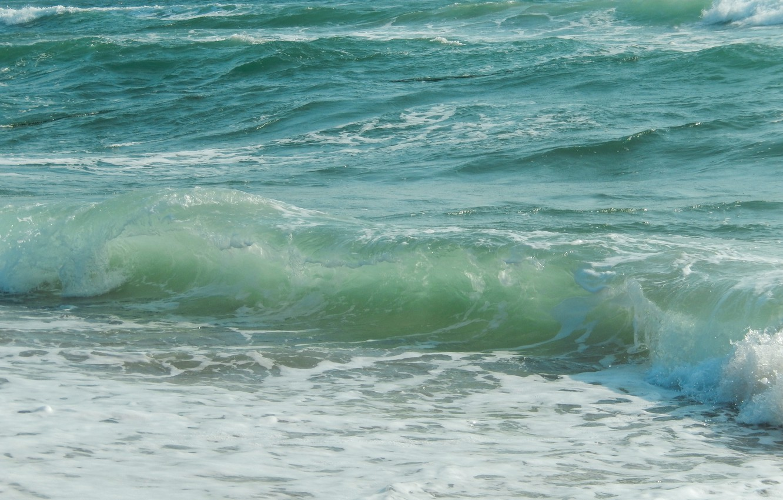 Фото обои море, волны, widescreen, обои, wallpaper, sea, широкоформатные, background, обои на рабочий стол, полноэкранные, HD wallpapers, ...