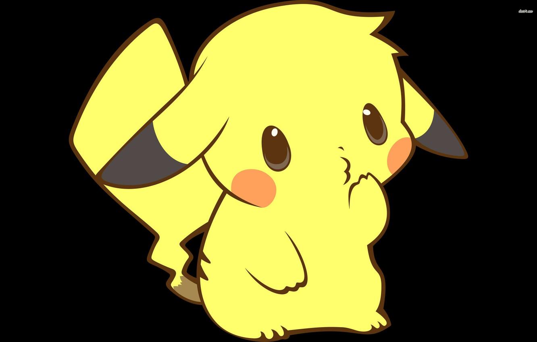 Фото обои желтый, удивление, пикачу, покемон, pokemon, pikachu