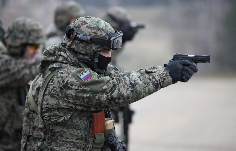Фото обои пистолет, гром, осн, интерполитех 2012