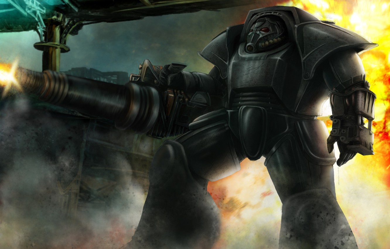 Фото обои броня, fallout, Warhammer 40000, fan art, Warhammer 40K, WH40K, brother of steel