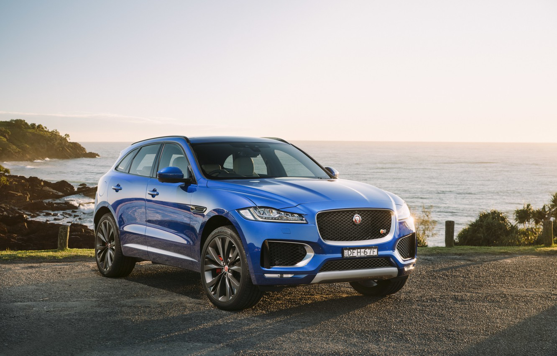 Фото обои Jaguar, внедорожник, ягуар, F-Pace