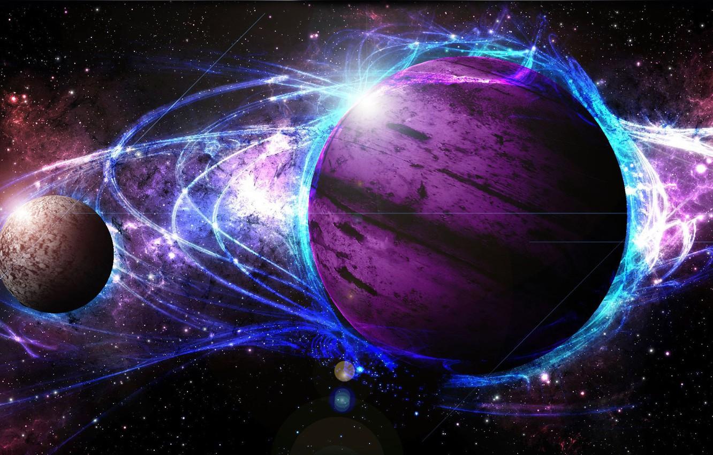 Фото обои light, star, cosmos, energy, planet, galaxy