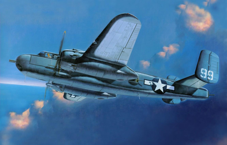 Обои North american, b-25, двухмоторный, американский, средний. Авиация foto 10