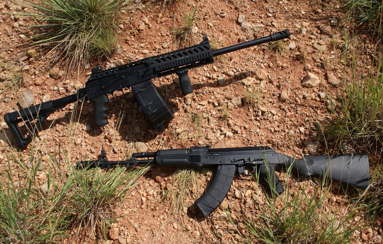 Фото обои ружьё, карабин, самозарядное, Сайга-12