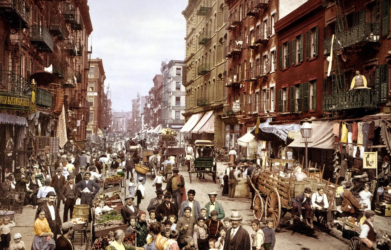 Фото обои Italy, нью, йорк, манхеттен, Manhattan, street, new, little, Mulberry, york