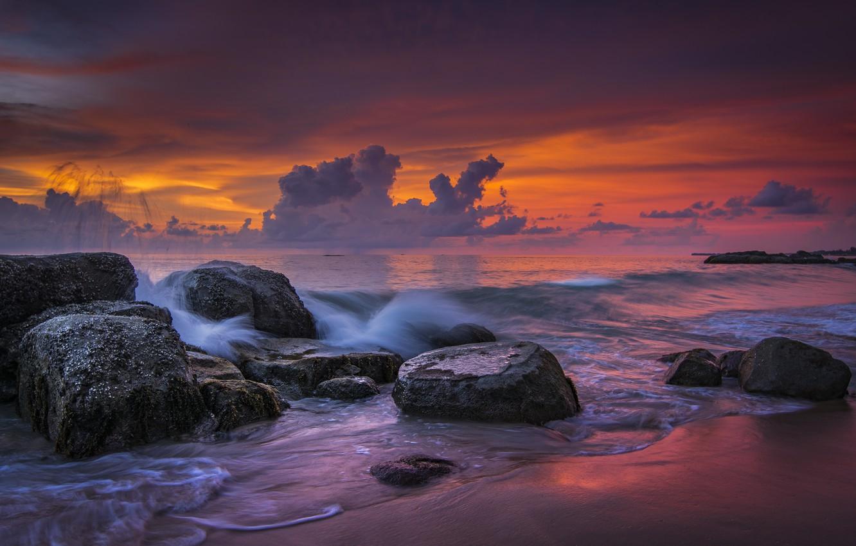 Фото обои море, берег, Thailand, Khao Lak Beach, Impressions